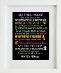 In this house Disney Print Design 2